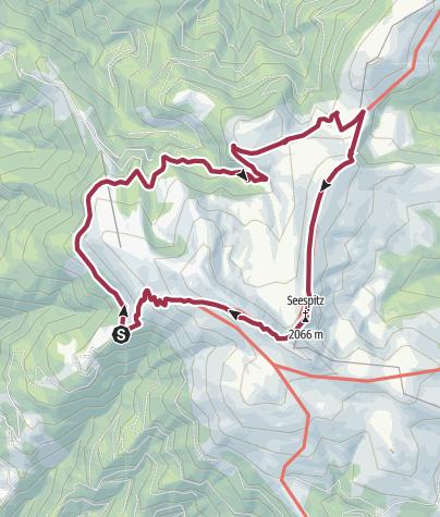 Carte / Panoramarunde GH Sonnhof - Poms Wasserfall - Grillitschhütte - Speikkogel - Koralpenhaus