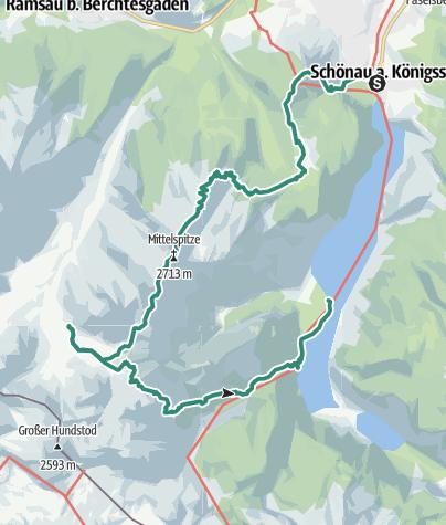 Karte / Watzmann und steinernes Meer