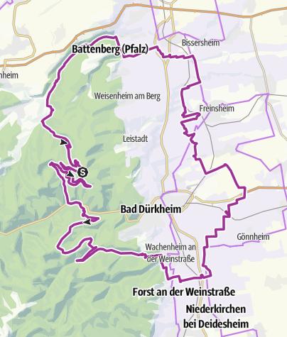 Map / Gravel Tour Pfälzer Radsporttag 2019