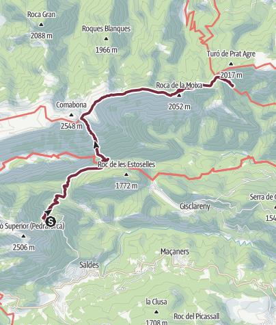 Karte / Etappe 4: Refugi Estase - Refugi Sant jordi