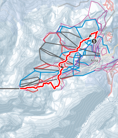 Map / Heidi & Gigi Trail in Arosa