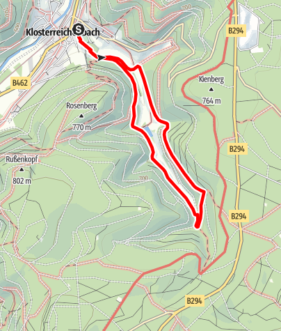 Karte / Spaziergang zum Genussplatz am Simonsbrunnen in Klosterreichenbach