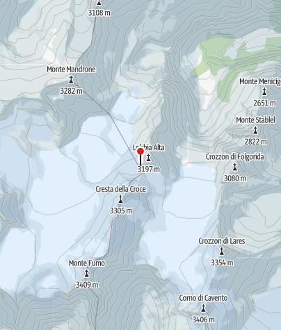 Karte / Rifugio ai Caduti Dell'Adamello