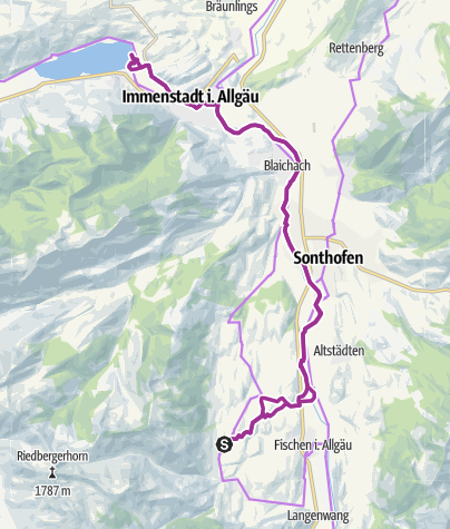 Map / Mit dem Fahrrad auf dem Illerradweg zum Alpsee bei Immenstadt