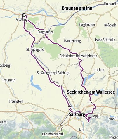 Map / Gaisberg and Wallersee.