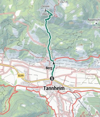 Karte / Von Tannheim auf den Einstein