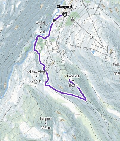 Karte / Top Mountain Run  - Hohe Mut Alm