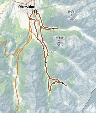 Karte / Mit dem Rad zur Traufbergalpe