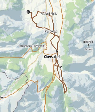 Karte / Oberstdorfer Tälerrunde - mit dem Fahrrad ab Bolsterlang