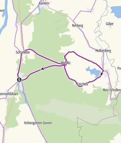 Karte / R4 Kranichroute