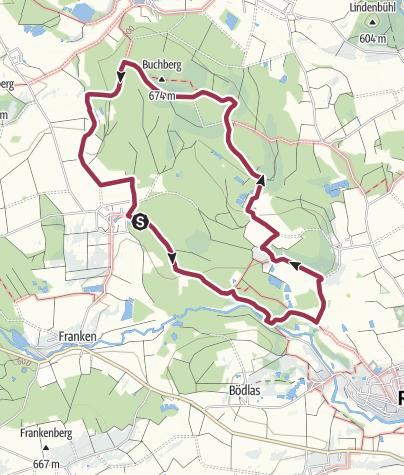 Karte / Von Grub zur Egerwasserfall - Rückweg Buchberg