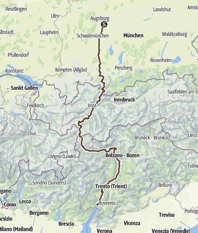 Karte / Mountainbike Transalp