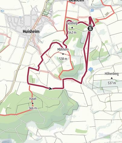 Karte / Monheimer Alb Nr. 17 - Schöne Ausblicke und interessante Einblicke bei Huisheim