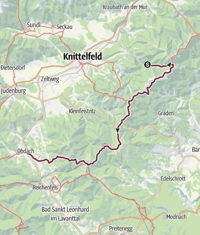Map / E1.2 - Glein - Gleinalm - Obdach