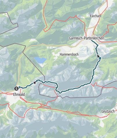 Map / Ehrwald nach Garmisch-Partenkirchen