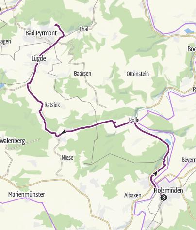 Karte / Polle--Bad Pyrmont (27,7 km)