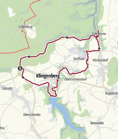 Karte / Wasser, Silber, Edle Krone ... die Ritter Theler Tour!