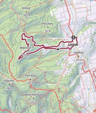 Karte / VielPfalz Extra Familienwandern: Tour 19 - Leistadt