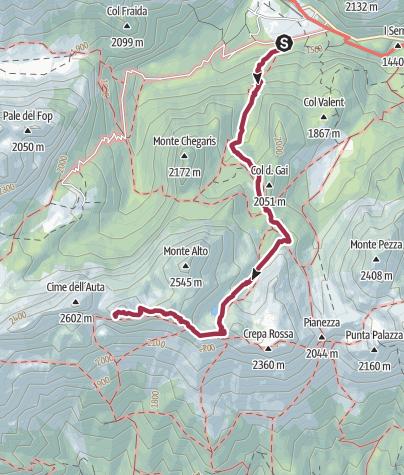 Mapa / cima dAuta