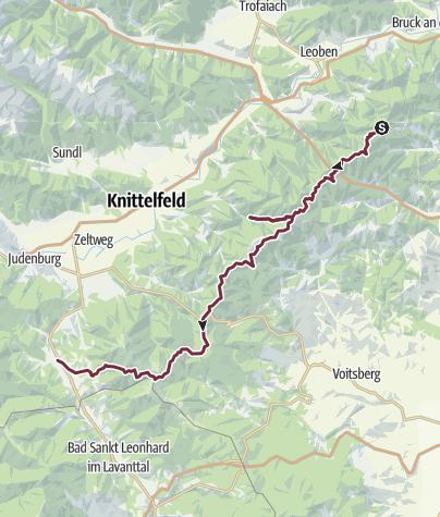 Map / E1 - Leoben - Obdach