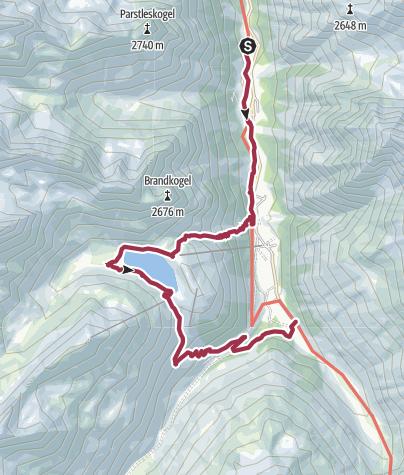 Map / Wanderung zum Rifflsee auf 2.232m Höhe