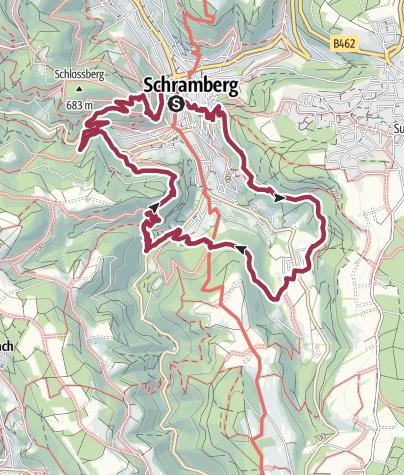 Karte / Schramberger Burgenpfad Schwarzwald Genießerpfad