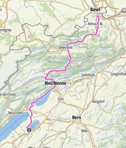 Map / Avenches-Bâle