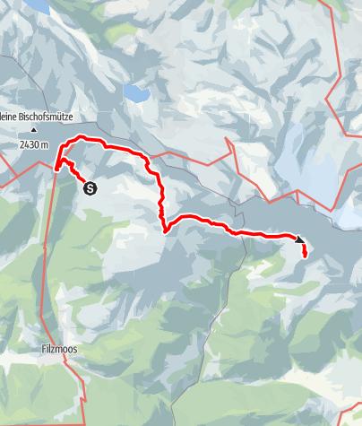 Karte / Dachsteinrundwanderweg  Etappe 1