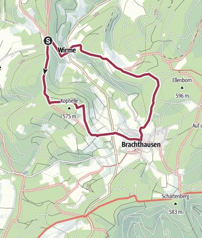 Karte /  Wallfahrtskirche, Bauernhof-Café, herrliche Aussichten und mehr (Rundweg A 1)
