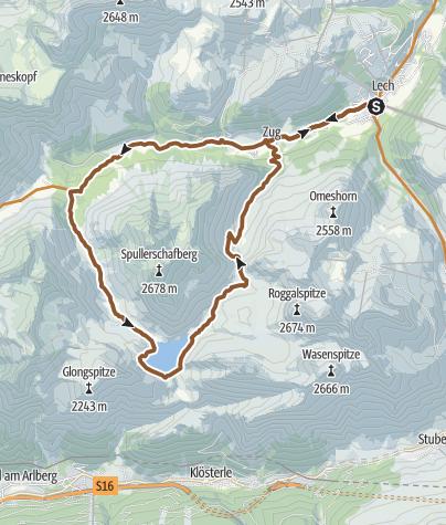 Map / MTB - Spullersee