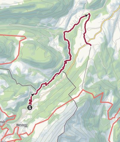 Map / Wanderung Breitachklamm von Waldhaus nach Kornau