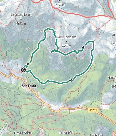 Cartina / Nel regno dei camosci