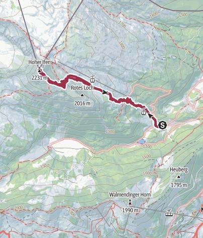Map / Wandertour zum Sonnenaufgang auf den Hohen Ifen