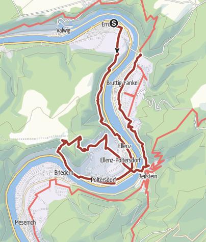 Karte / Der Erlebnisweg Moselkrampen (Ernst, Bruttig-Fankel, Beilstein, Ellenz-Poltersdorf)