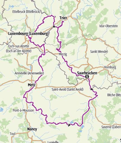 Karte / SaarLorLux