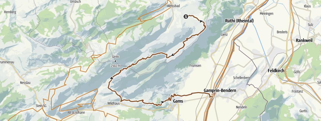 Mapa / Alpstein Tour Rotsteinpass