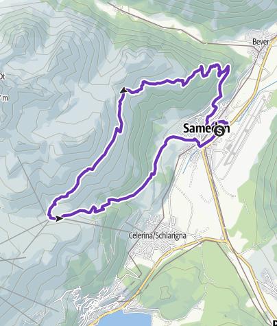 Map / Engadin Trail 16 Km / Samedan - Samedan