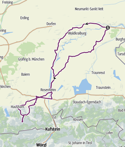 Map / To Spitzingsee at July 23, 2019