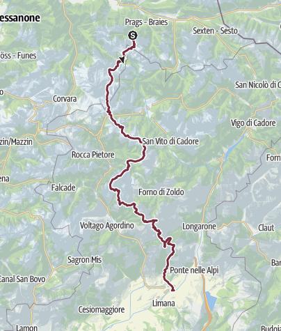 Cartina / Alta Via delle Dolomiti n.1