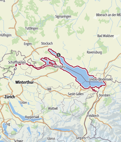 Karte / 3. Bodensee Ultra Friedenslauf 2020 den Bodensee Friedensweg 2020 begleitend