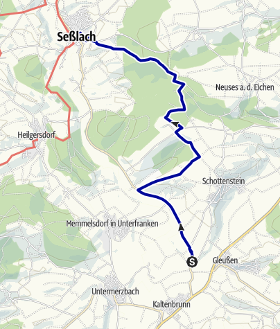 Karte / Zweiländerweg - Anbindung Itzgrund