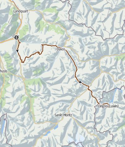 Map / Chur-Parpan-Arosa-Davos-Livigno