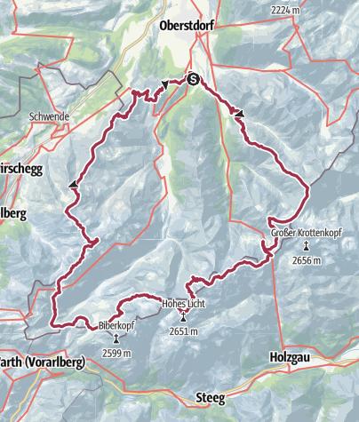 Map / Steinbocktour 15. August - 19. August