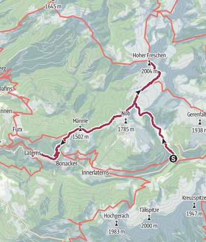 Map /  Hoher Freschen von Bad Laterns