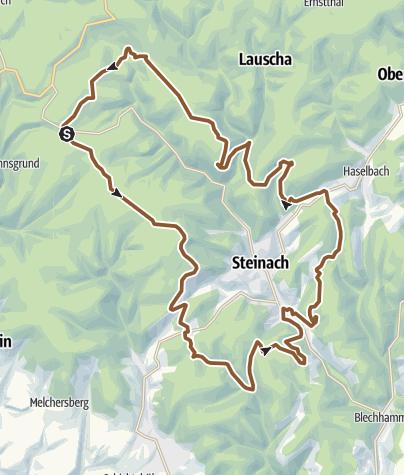Karte / Tourtipp by Ski & Bike Marr - von Steinheid, rund um Steinach zur Bergmannsklause