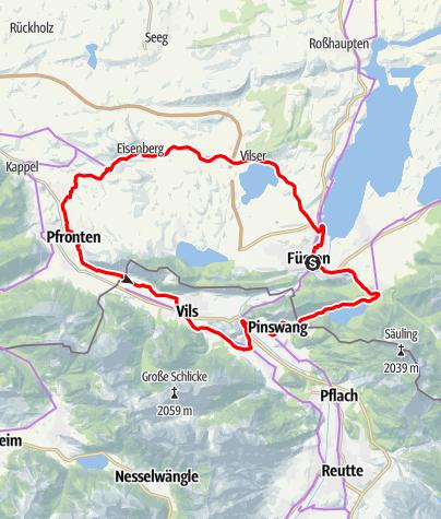 Karte / Burgen- und Schlösserrunde