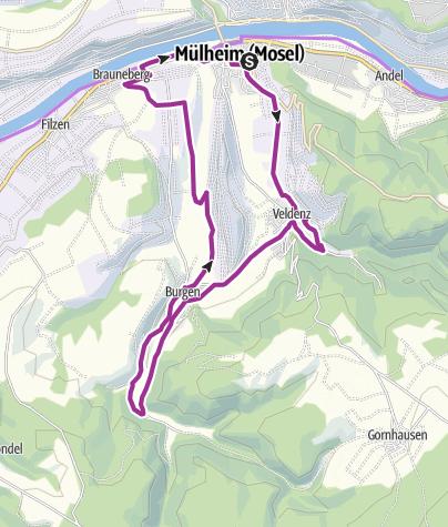 Karte / ebike-Tour 8: Rundtour durch die Grafschaft Veldenz