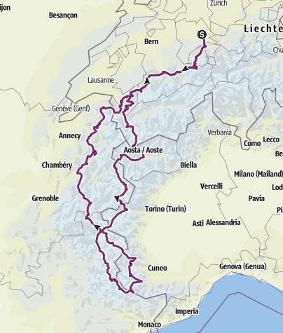 Karte / Töfftour August 2019