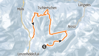 Map / Lenzerheide - Arosa - Tschiertschen - Ski Safari