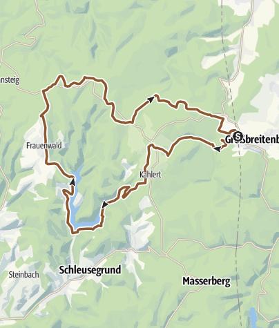 Karte / Talsperre Schönbrunn - Frauenwald
